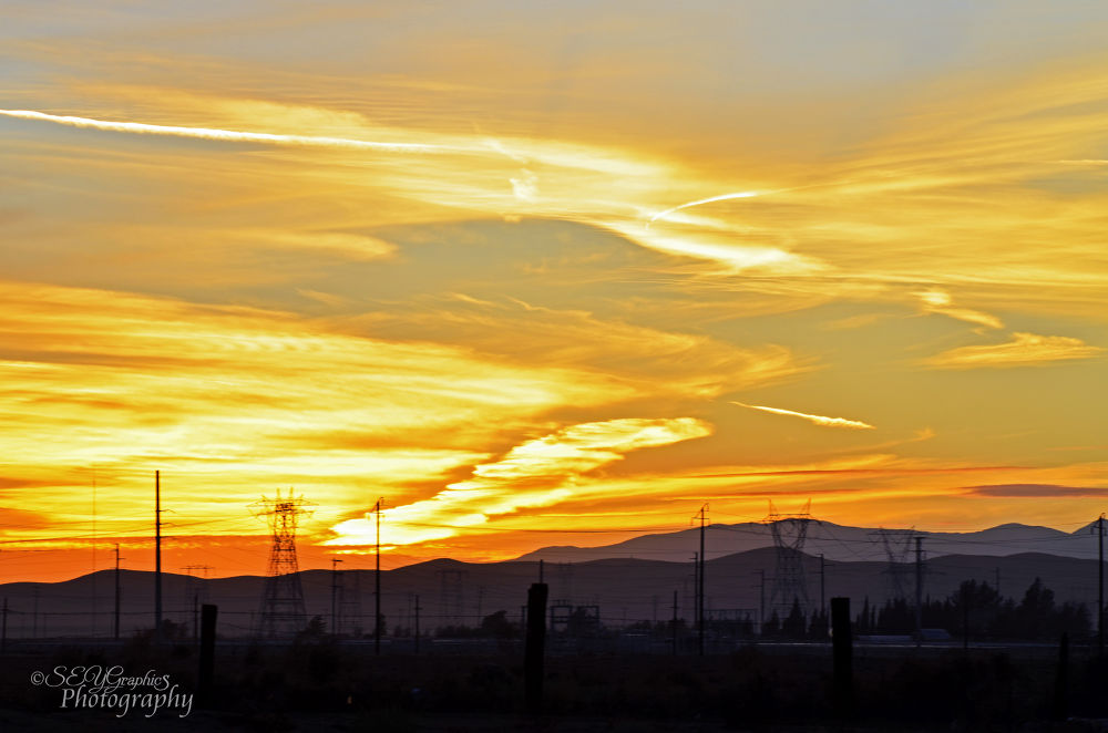 Photo in Landscape #sunset #desert sunset #golden sunset #golds and reds