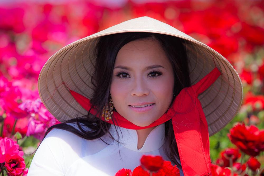 Photo in Portrait #vietnamese girl #nón lá vietnam