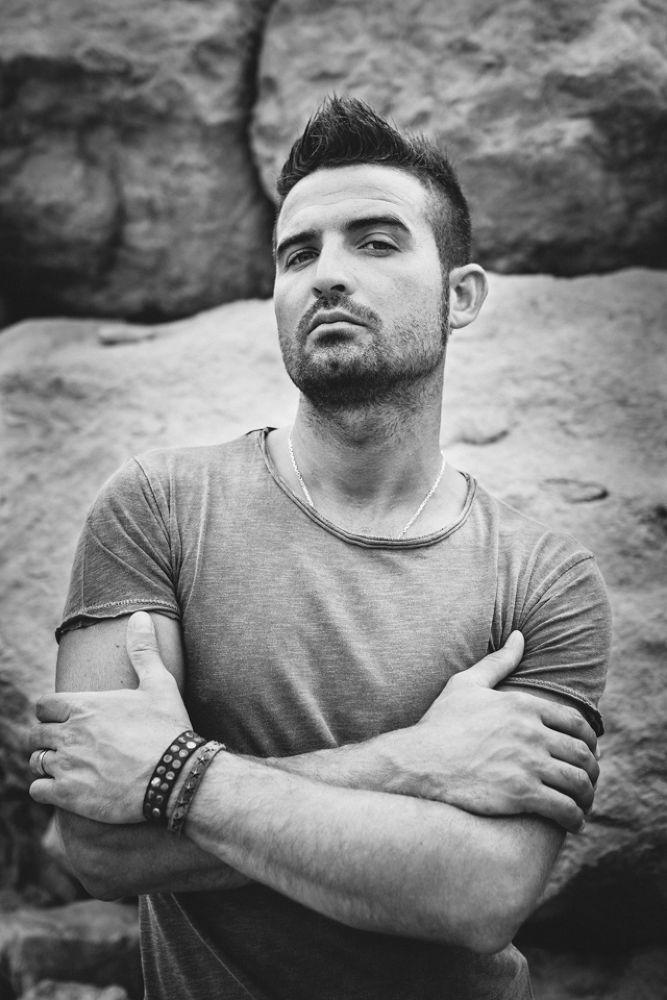Photo in Portrait #ypa2013 #andrea #livieri #sigma #canon #7d #black #white #natural #light #music #musician #guitar #guitarist #fender #gibson