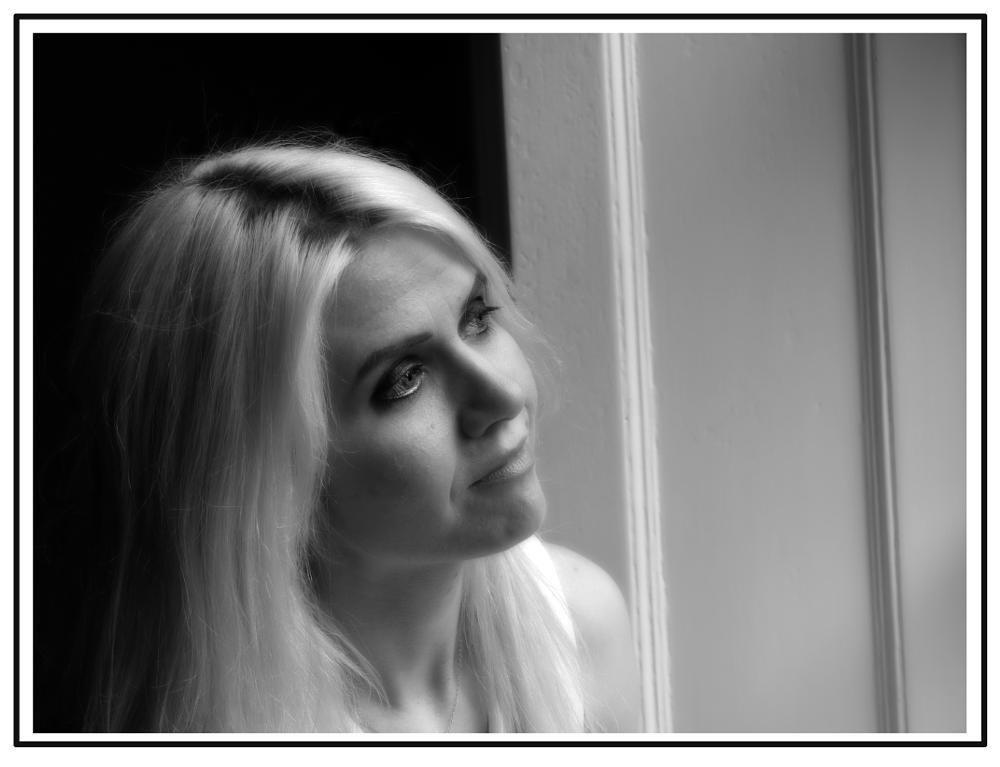 Photo in Portrait #portrait #beauty #face #black and white #model