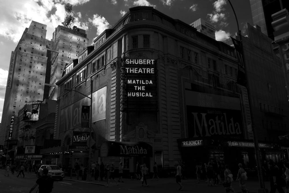 Photo in Architecture #shubert theatre #streetcontest #nyc #new york #city #cityscape #nikon #bw #b&w #black and white #sigma