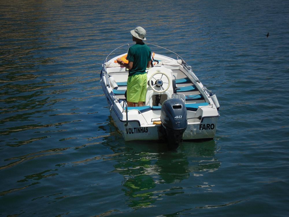 Photo in Travel #algarve #portugal #boat #river #ria #formosa #sommer #lagoon #fishing