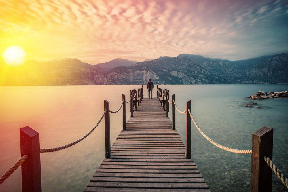Photo in Landscape #sunset #lake garda #nikon #d800e #zeiss #distagon #water #mountains #sky #cloudscape #landscape #nature #long exposure #nd filters #malcesine #italy #trentino #mattia bonavida #rocks #stones #beach #pier #sunrays #autumn #2014 #youpic #popular