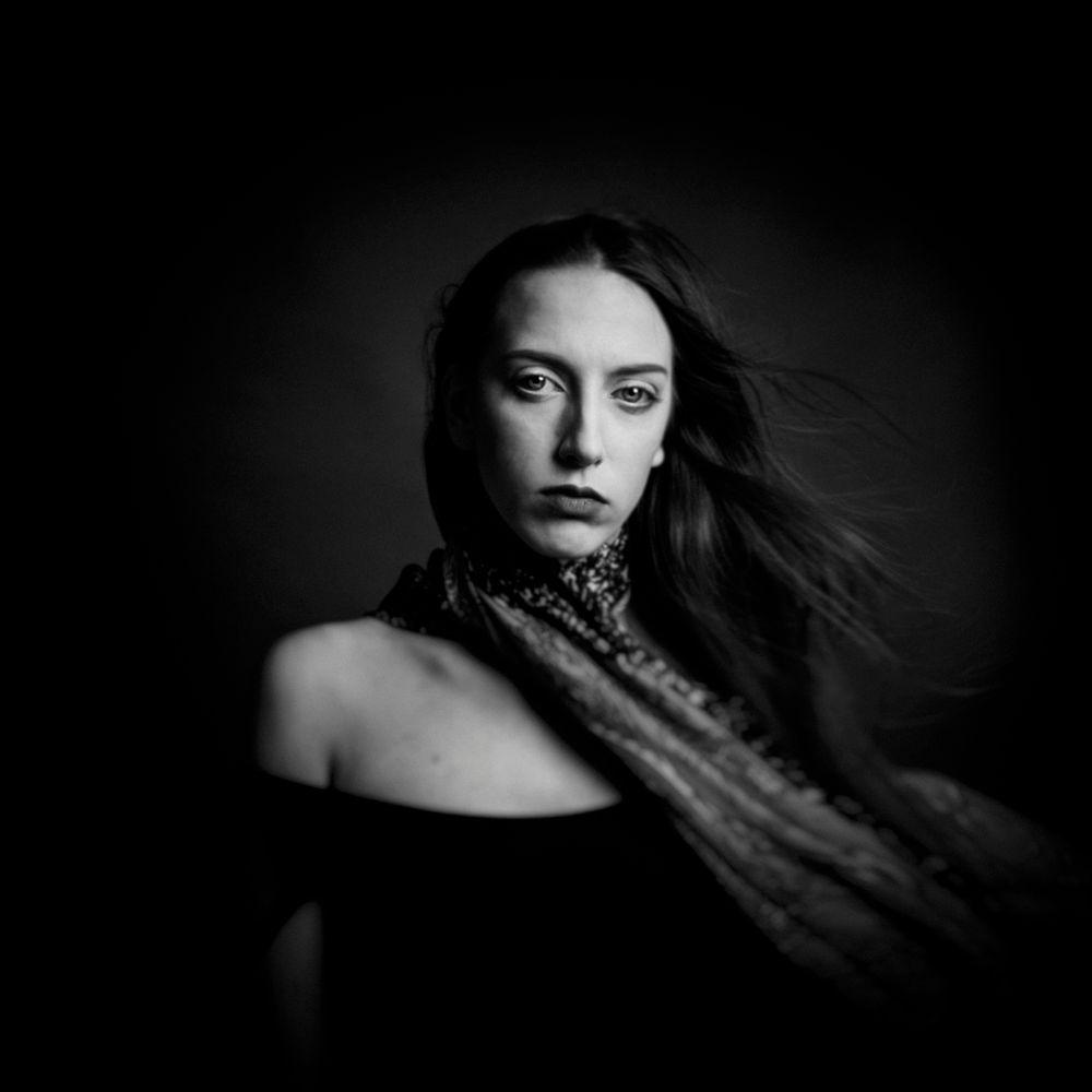 Photo in Portrait #people #modelka polishgirl photoofth #black&white