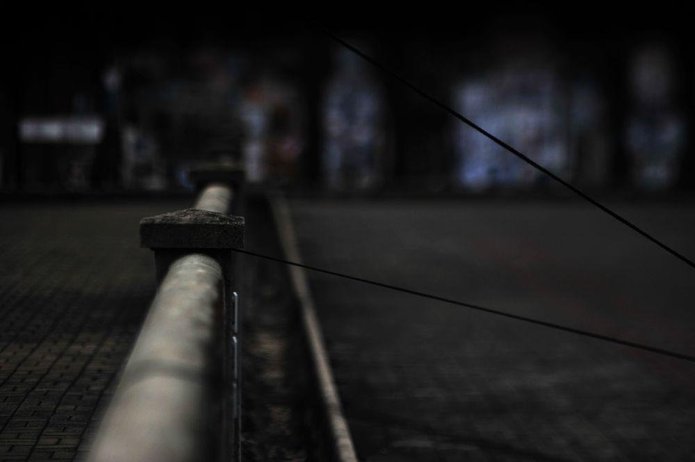 Photo in Abstract #cable #tension #hongkong #abstract