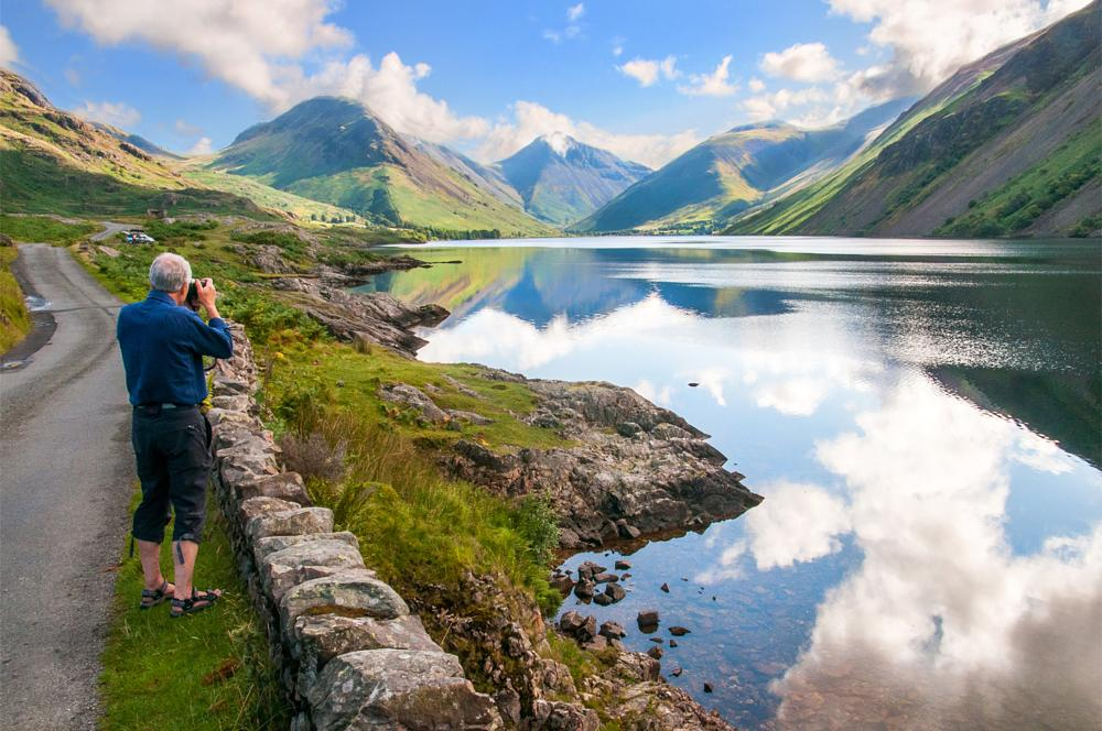 Photo in Landscape #wastwater #great gable #the lake district