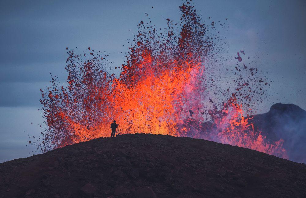 Photo in Landscape #volcano #lava #iceland #landscapes