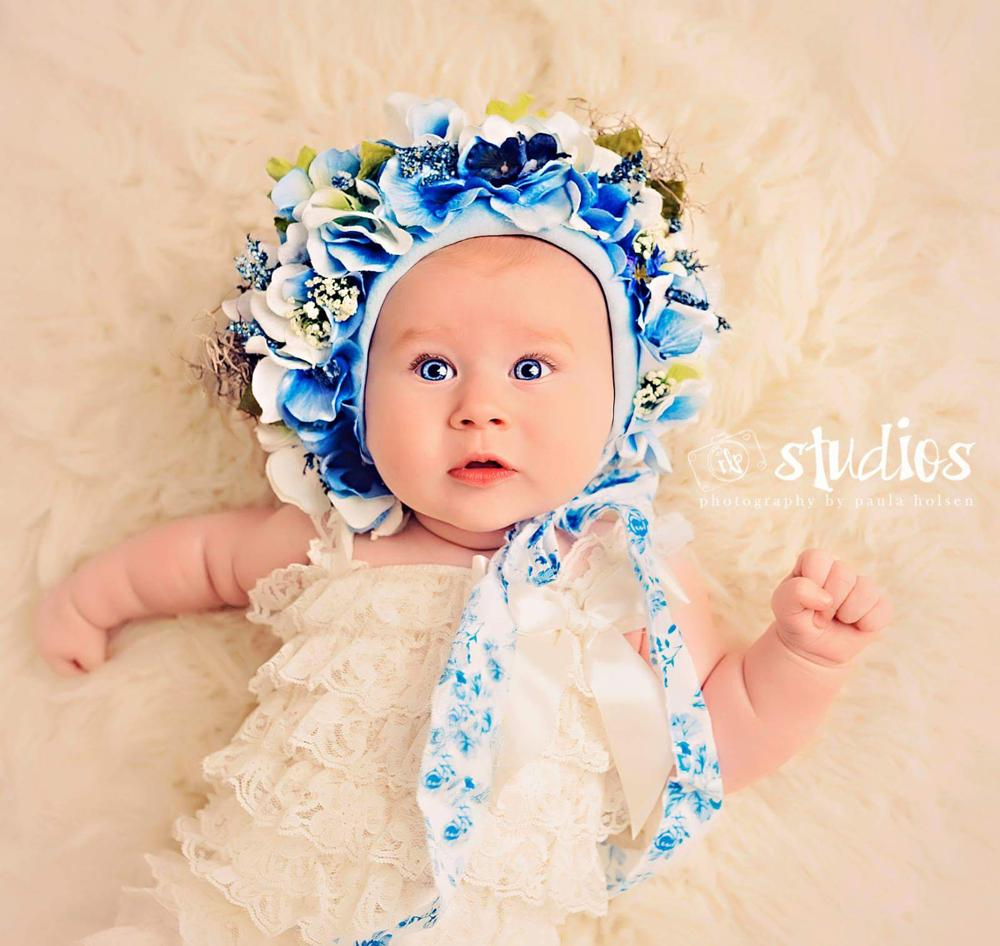 Photo in Portrait #blue bonnet #sitter #6 month #newborn