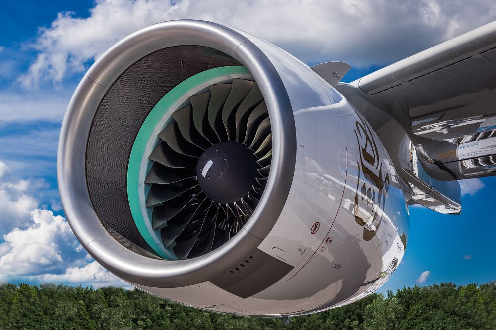Photo in Vehicle #rolls-royce #engine #airplane #emirates