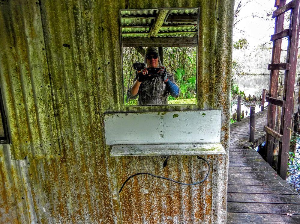 Photo in Nature #selfie #dock #mirror #todd #fakahatchee hilton #cabin #moto z4 #smart phone #camera module #canon #powershot #camera #everglades #florida