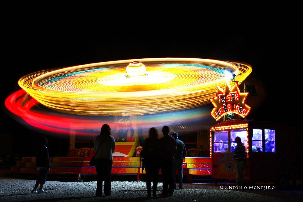 Photo in Random #colours #speed #night photography #carousel #amusement park #carrossel