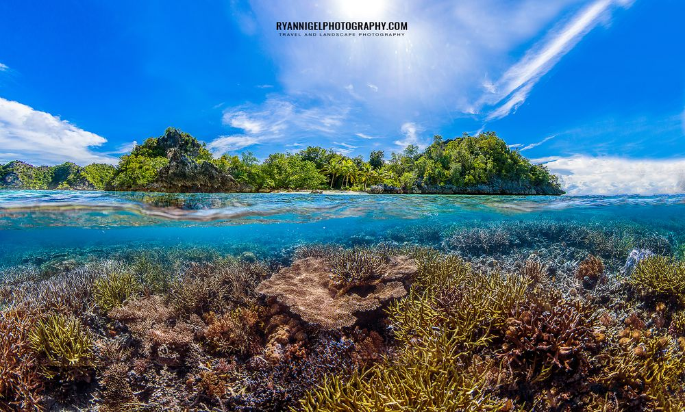 Photo in Travel #raja ampat #indonesia #travel #landscape #nature #seascape #underwater #sky #coral #island #tropical #paradise #color #asia #explore #tutorial #story #travel story