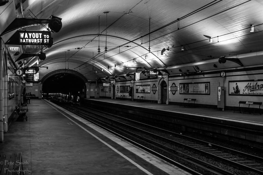 Photo in Black and White #sydney #city circle #rail photo's