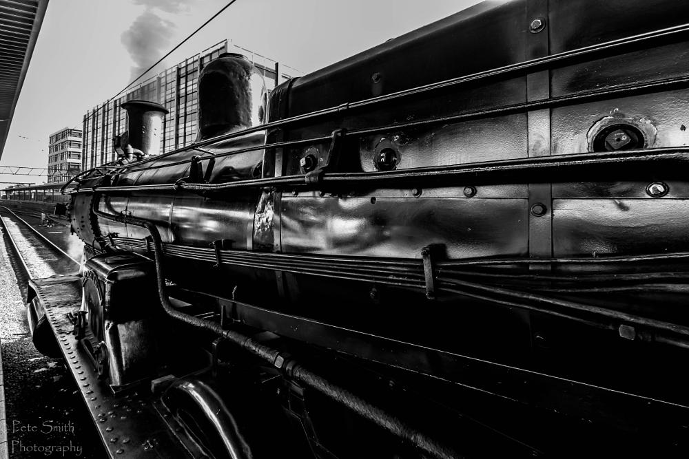 Photo in Black and White #black beauty #heritage steam train #central station