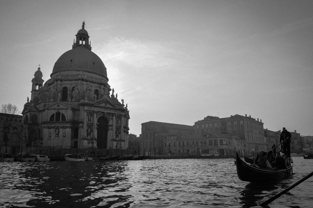 Photo in Black and White #venice #italy #travel #black and white #friendship #outdoors #water #gondola ride