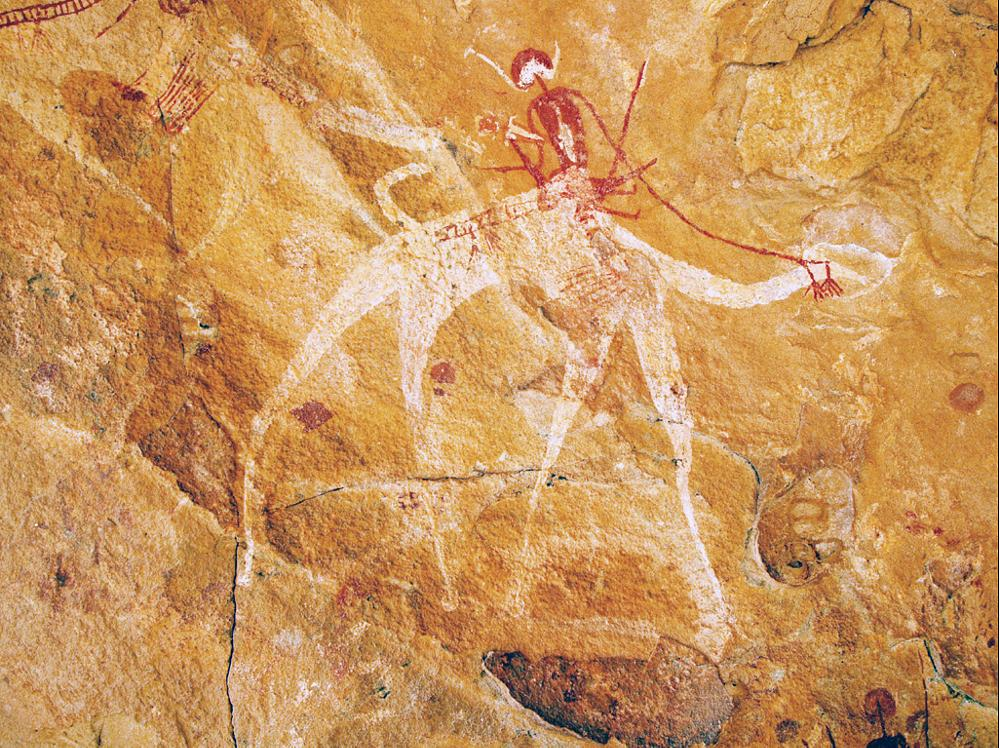 Photo in Still Life #camel #rock paintings #cave paintings #toumaï land