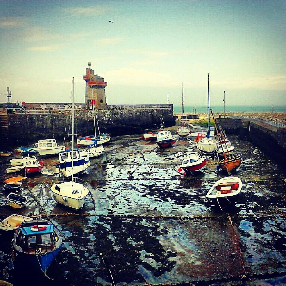 Photo in Sea and Sand #harbour boats sea water