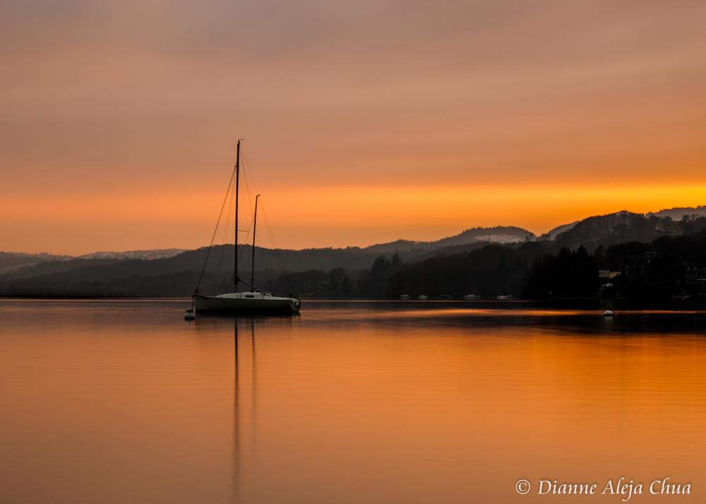 Photo in Landscape #water #lake #waterscape #boat #sunset #longexposure #beautiful
