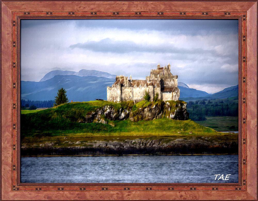Photo in Random #art #oil #painting #castle #scotland #fine #canvas #mull #duart