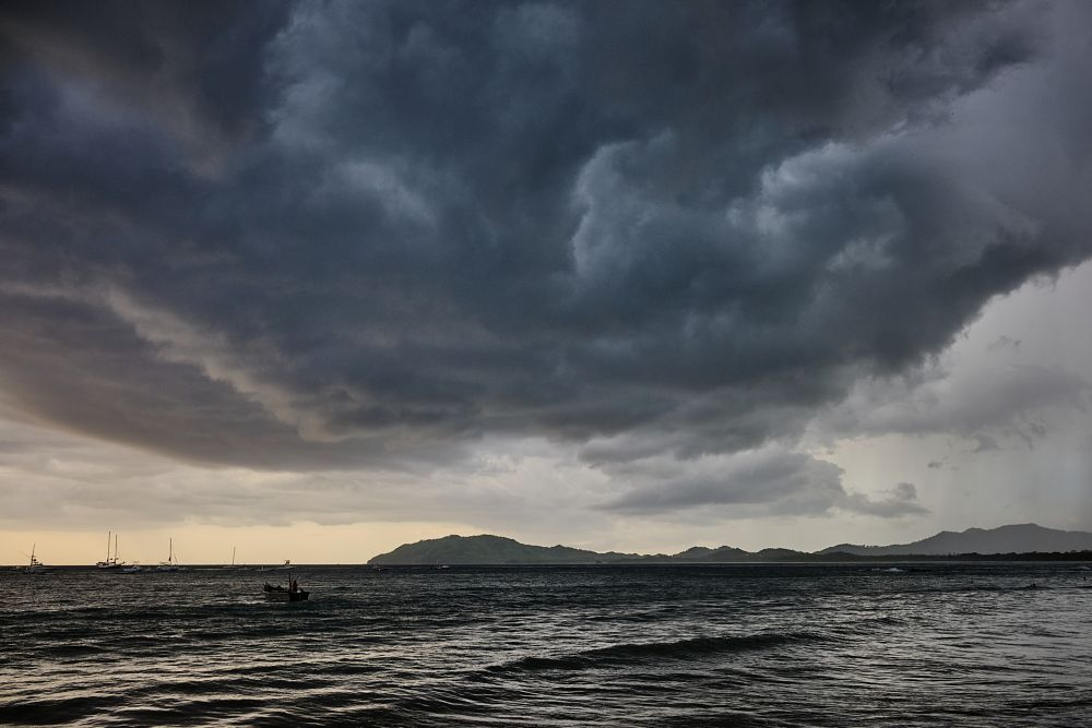 Photo in Landscape #sunset #storm clouds #playa tamarindo