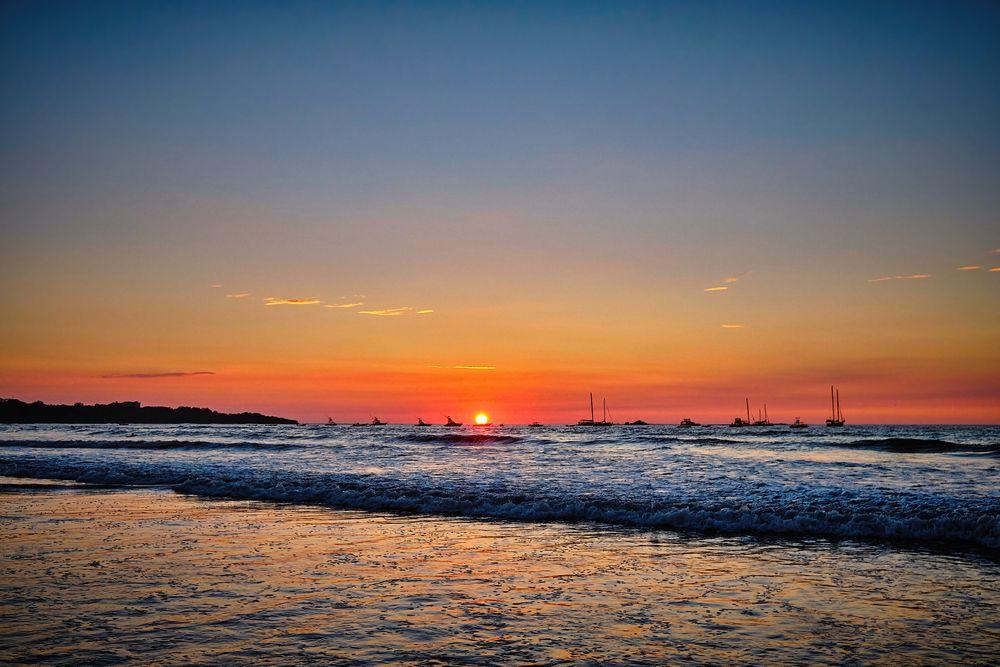 Photo in Sea and Sand #sunset #beautiful #playa tamarindo #colours