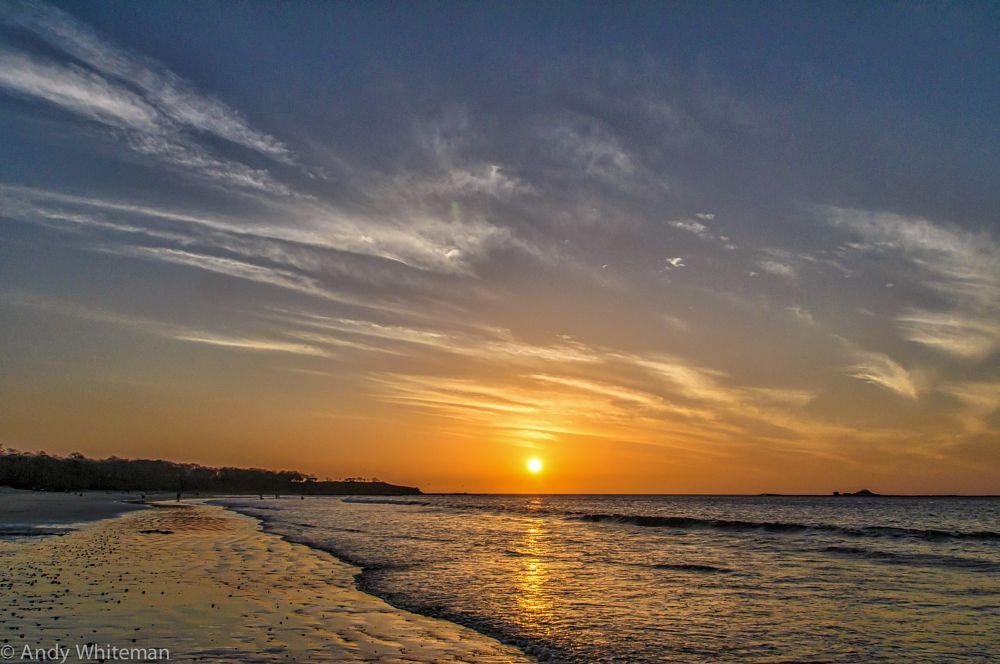 Photo in Sea and Sand #sun #clouds #colours #ocean #beach