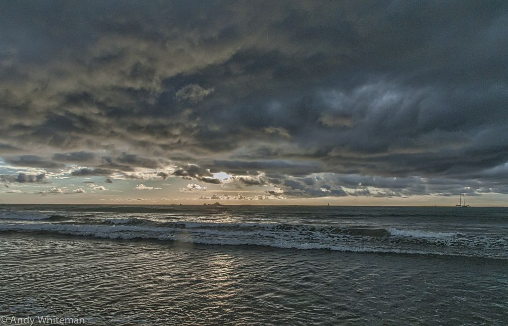 Photo in Sea and Sand #tamarindo bay #rian clouds #sunset