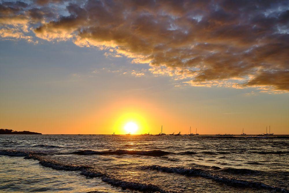 Photo in Sea and Sand #sunst #clouds #colours #fuji #playa tamarindo
