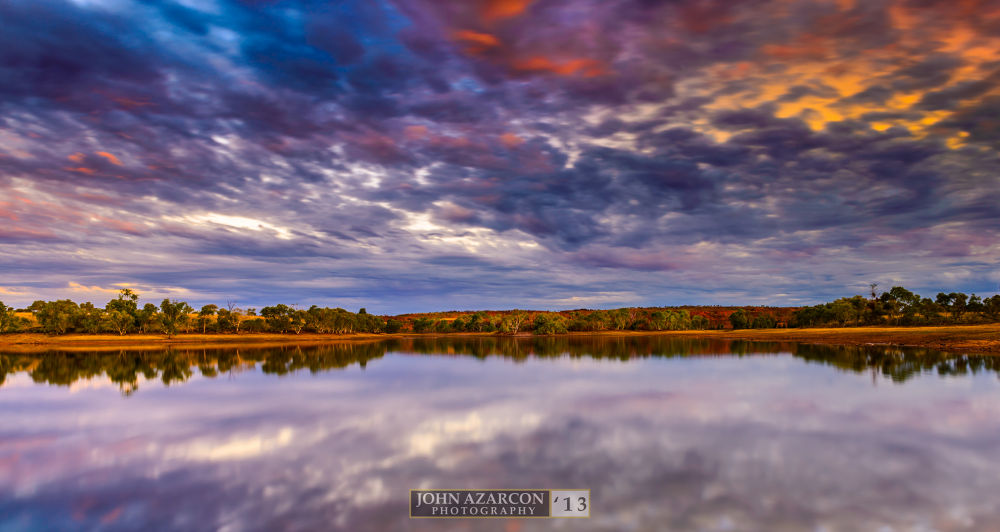 Photo in Landscape #d600 #lake mary ann #tennant creek #nt #australia #outback #jrazarcon #lake #water #clouds #sky #sunset #afternoon #desert