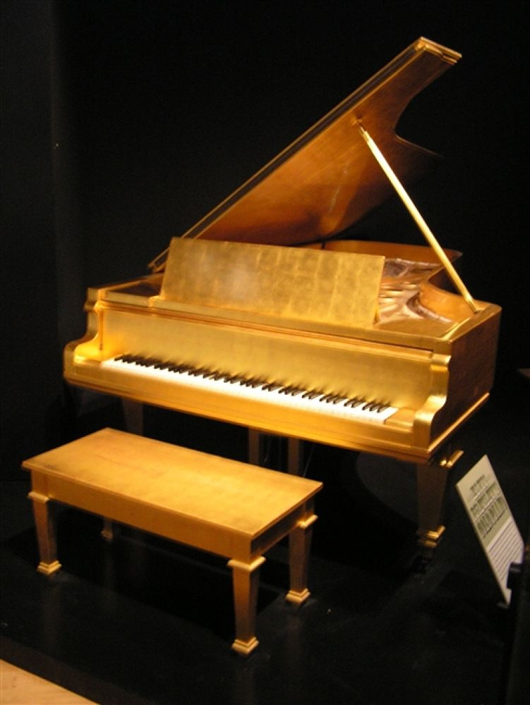 Photo in Random #of #golden #nashville #elvis' #piano #country #music #hall #fame