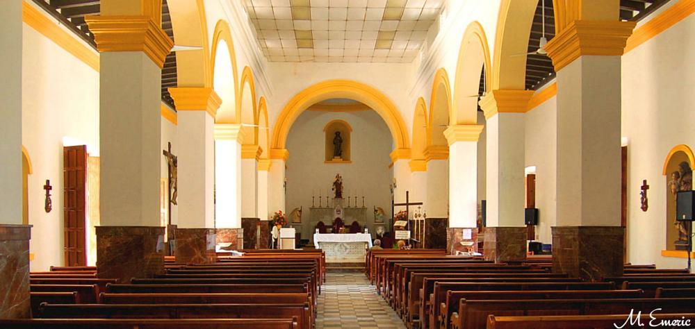 Photo in Interior #yellow #church interior #catholic #fajardo #puerto rico