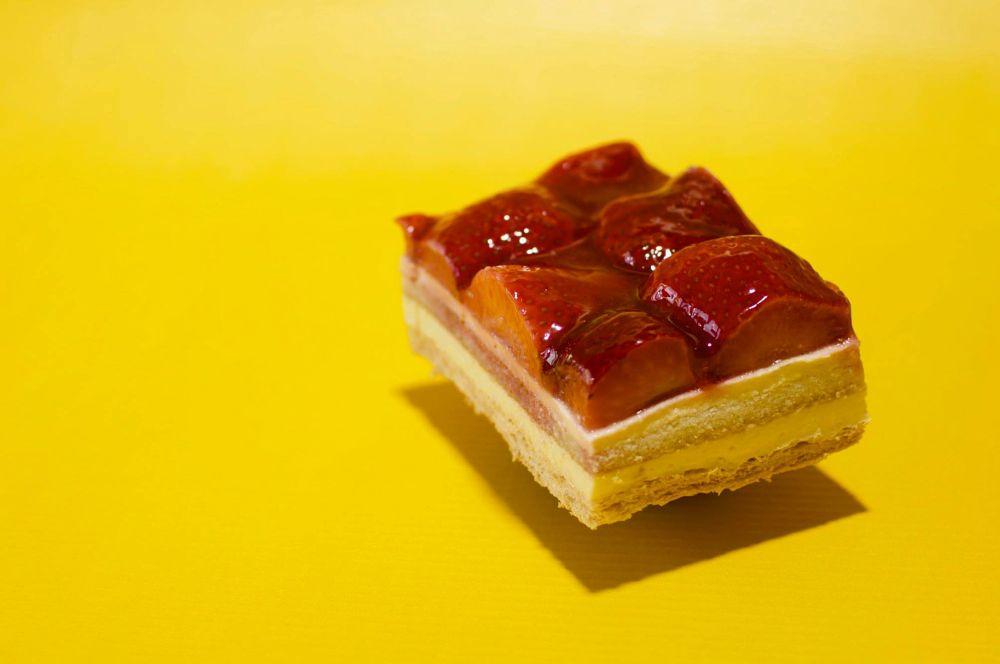 Photo in Food #strawberry #food #sweet #cake #pide #kolac #pita #deser #desert #red #yellow