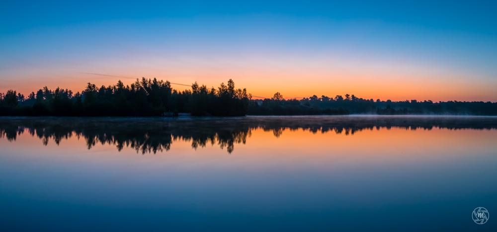 Photo in Landscape #sunrise #reflections #yellow #water #sunlight #silhouettes #gold #orange #trees #sky #blue hour #le #long exposure #2 seconds #serene #peaceful #misty #lake #reindersmeer #maasduinen #limburg #well #national park #nature #noord-limburg