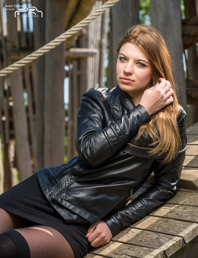 Photo in Portrait #young #girl #portrait #outdoor #leather #sony