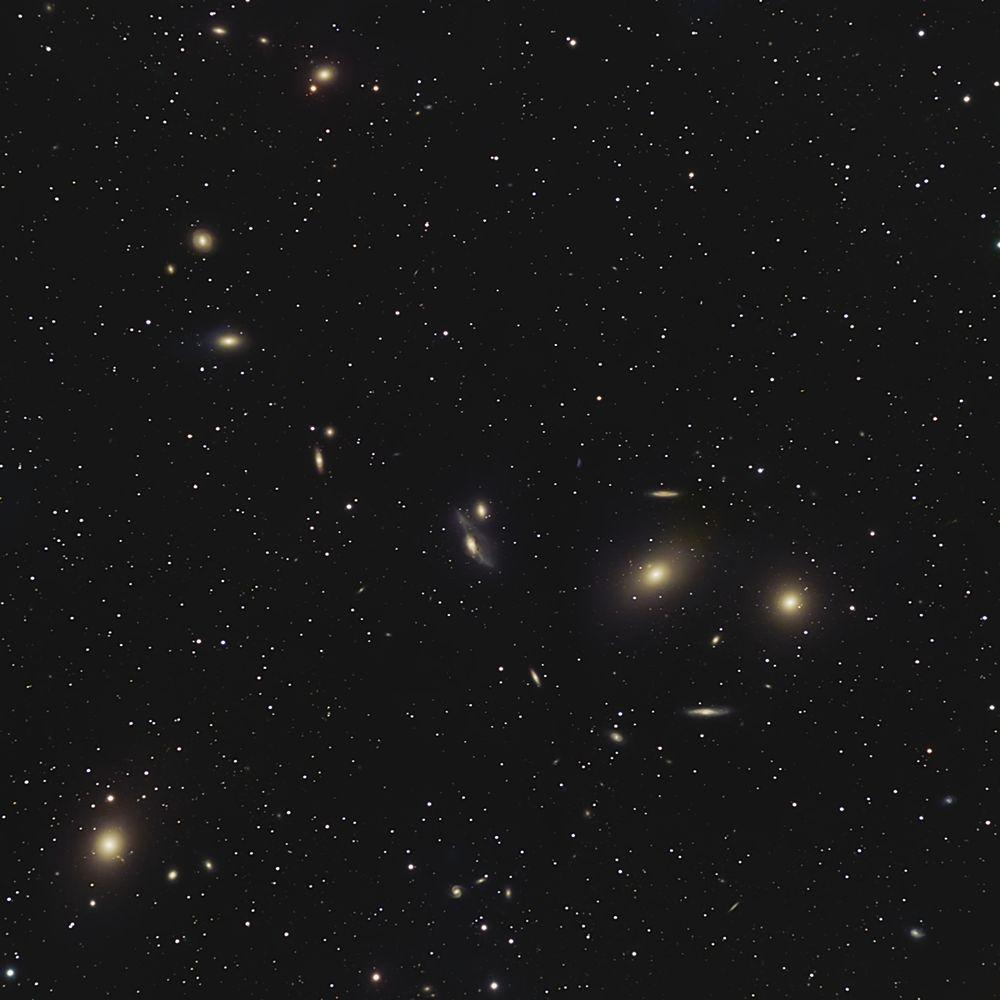 Photo in Astrophotography #astrophotography #astrophoto #astro #astronomy #universe #cosmos #deepsky #galaxy #galaxies #galaxy cluster #virgo #long exposure #night sky #markarian's chain