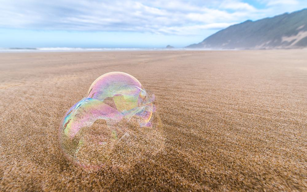 Photo in Sea and Sand #beach #sand #waves #clouds #bubbles