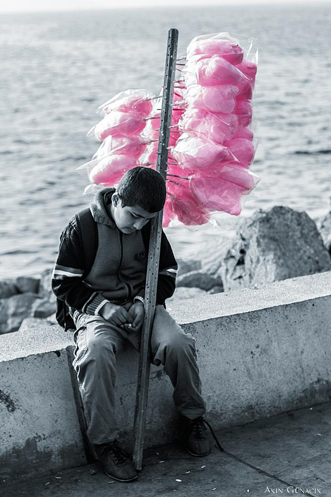 Photo in Street Photography #cotton candy #child #street #canon #650d #coast #sea #portrait