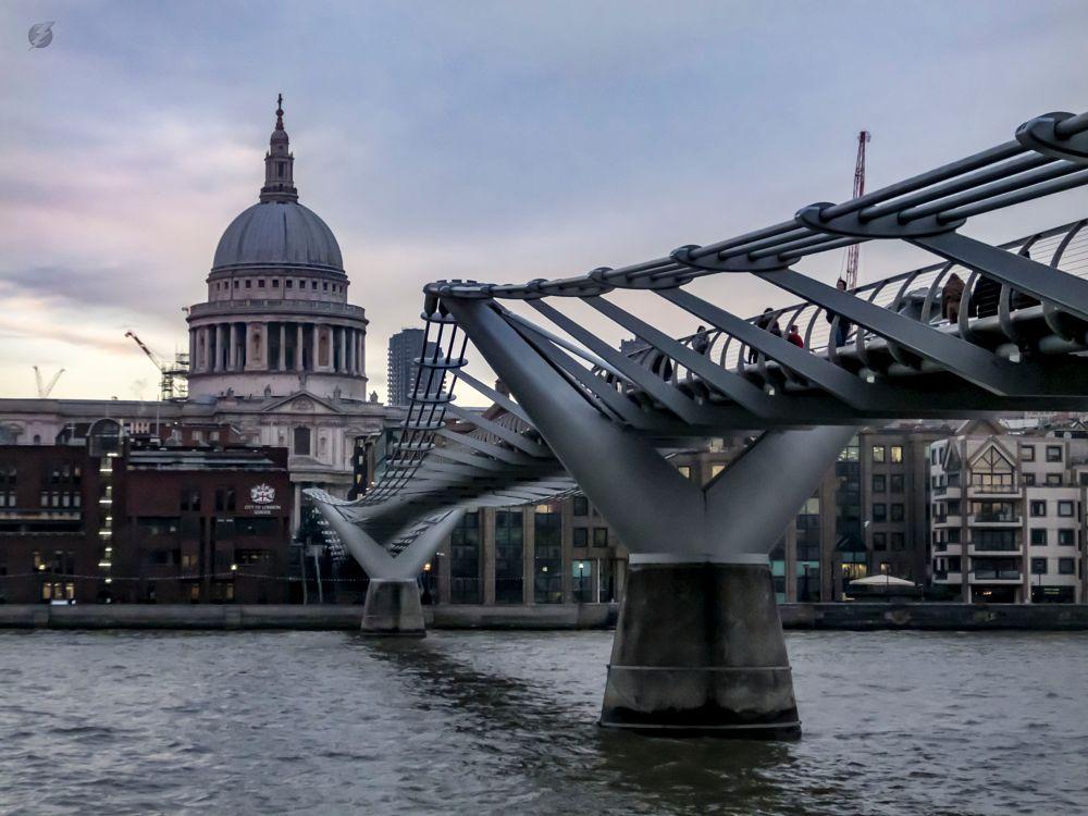 Photo in Travel #england #london #st paul's #millenium bridge #river thames
