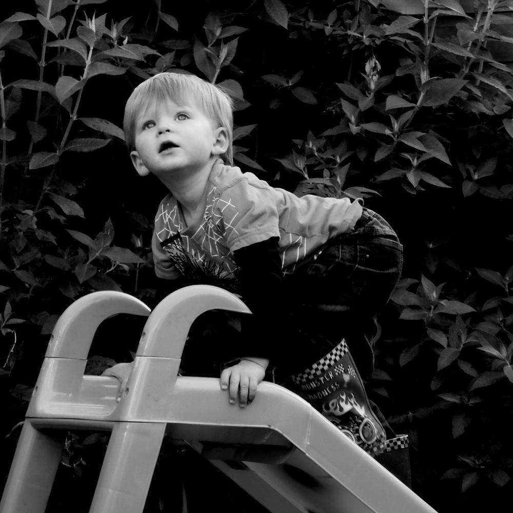 Photo in Black and White #garden #blackandwhite #outdoors #kids