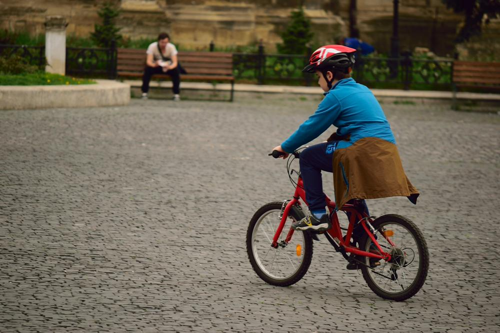 Photo in Urban #children #bike #happy