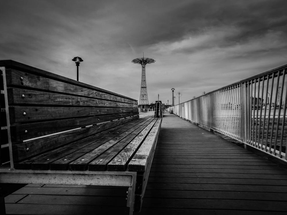 Photo in Black and White #new york city #coney island #america #usa #black and white #noir et blanc #sony #cityscape