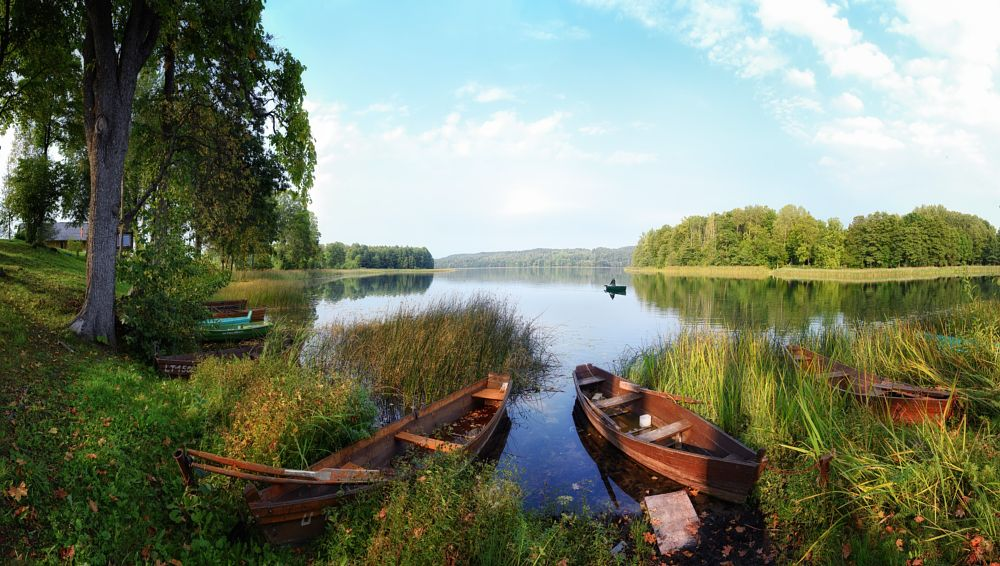 Photo in Landscape #autumn #lake #peacefulness #restless #sunset