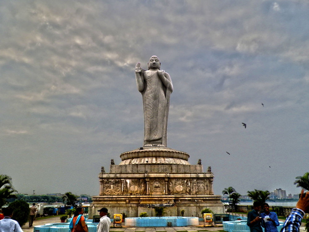 Photo in Architecture #buddha #statue #hyderabad #hussain #sagar #aarchitecture