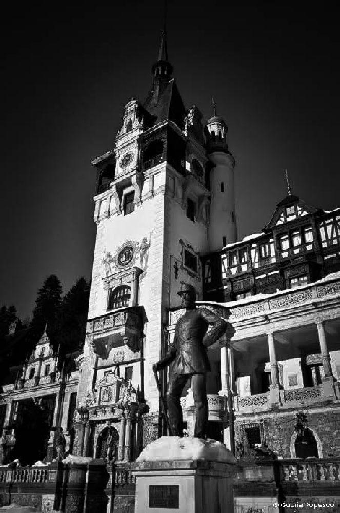 Photo in Black and White #pelescastle