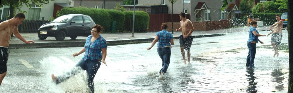 Photo in Street Photography #panorama #humour #rain #weather #storm #flooding #street photography #summer