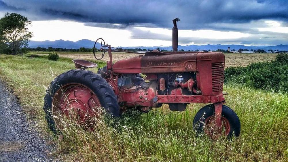 Photo in Landscape #tractors #farms #fields #harvest