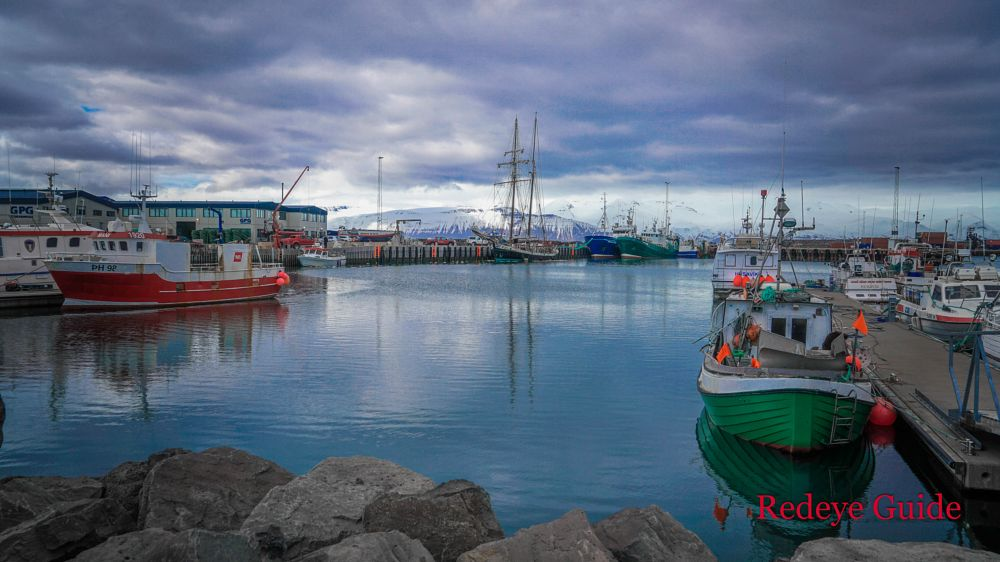 Photo in Landscape #redeyeguide #port #husavic #iceland #boats #fishing boat