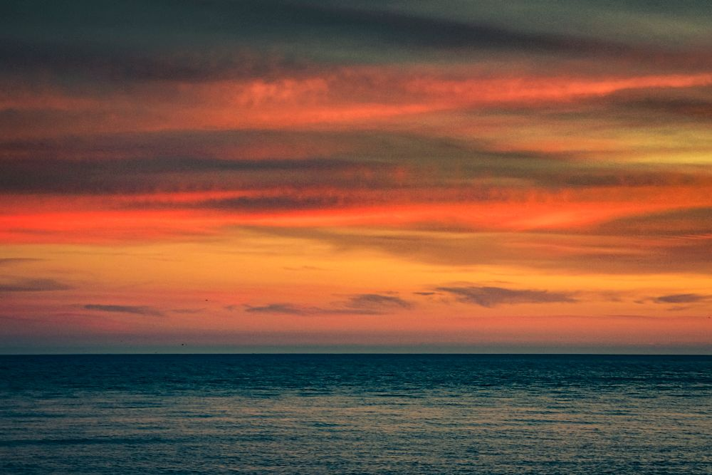 Photo in Sea and Sand #sea #sunset