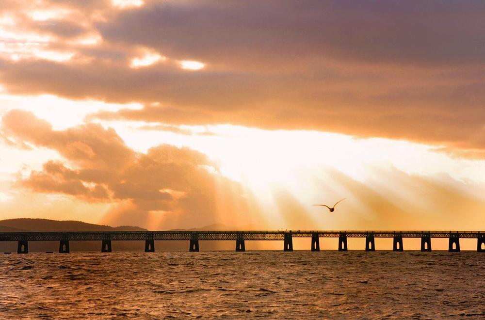 Photo in Travel #bridge #tay bridge #dundee #sky