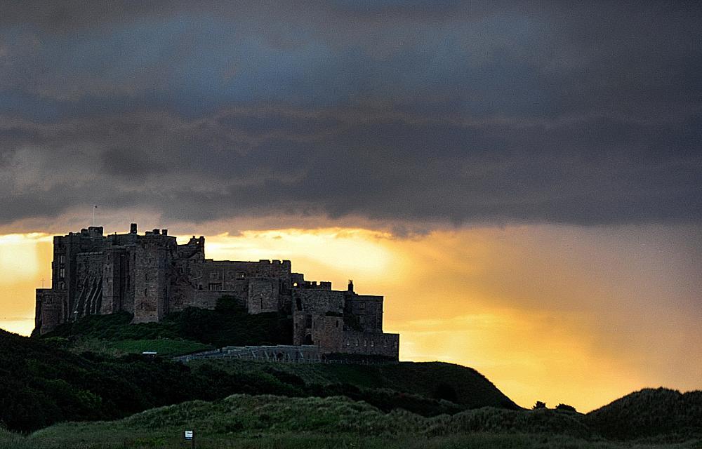 Photo in Landscape #bamburgh #castle #sunset #northumberland